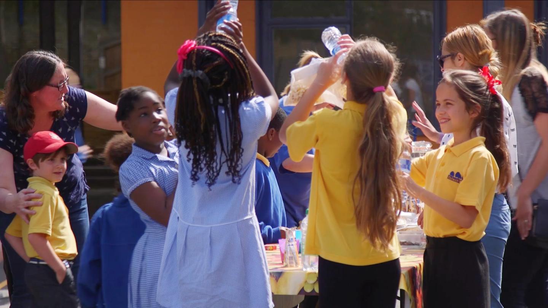 Pupils enjoying Fruity Friday