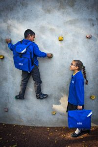 Boy and girl school uniform